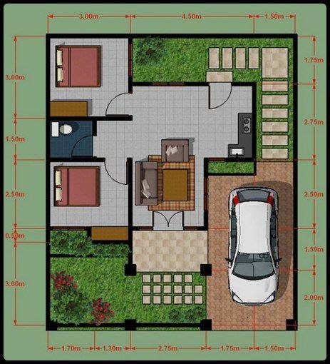 image minimalist house plan type 45 rumah rumah minimalisku desain 3d rumah type 45 design plan section structure