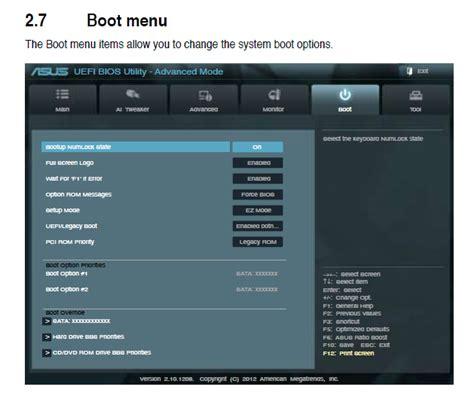 Asus Laptop Not Booting To Bios uefi missing usb boot option user
