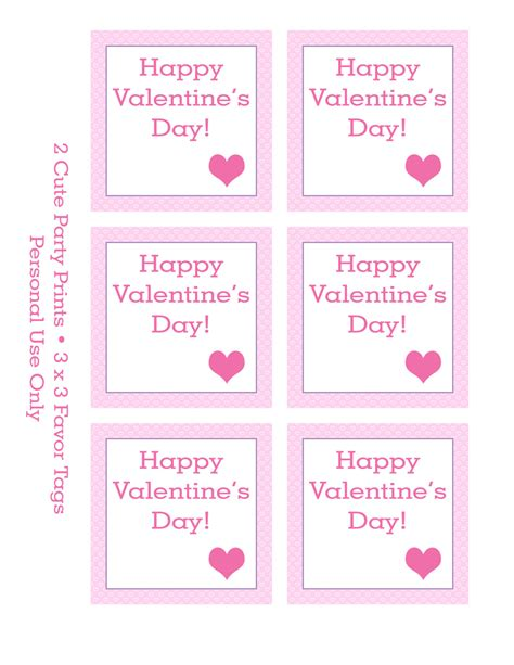 printable valentines tags 5 best images of printable s tags free