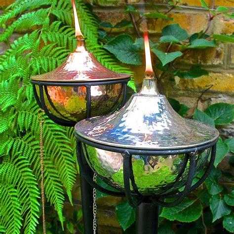 outdoor oil ls lanterns garden oil torch tabletop or pole mounted by london garden