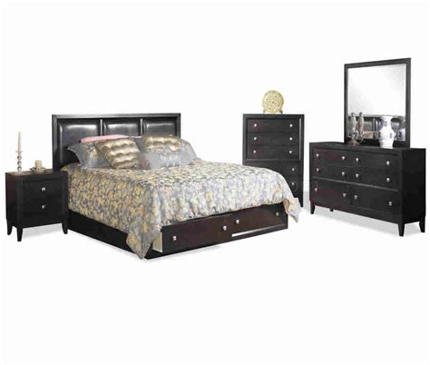 bedroom sets with storage beds espresso finish modern bedroom set w storage bed