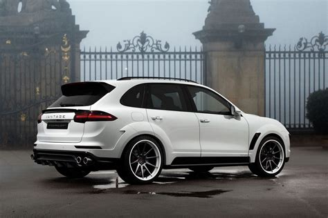 porsche suv 2015 white topcar shows off white porsche cayenne vantage 2015 kit