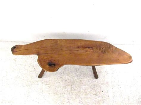 Tree Slab Coffee Table Vintage Rustic Free Edge Tree Slab Coffee Table For Sale At 1stdibs