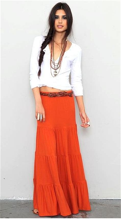 stylish tiered maxi skirts for summer fashion