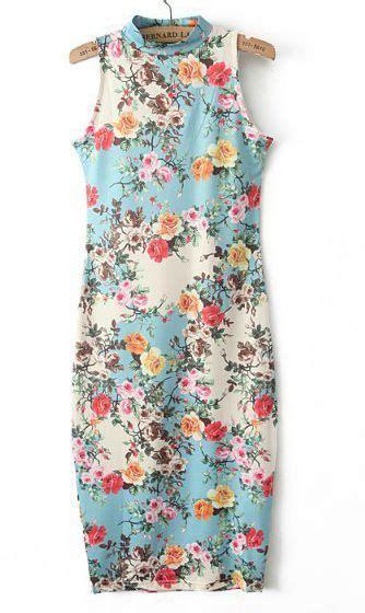 Wst 10882 Vintage Bodycon Dress Blue Size L vintage floral dress fashion the shape