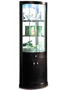 Corner Display Cabinets by Corona Black Corner Display Cabinet Black Vaneer Corner