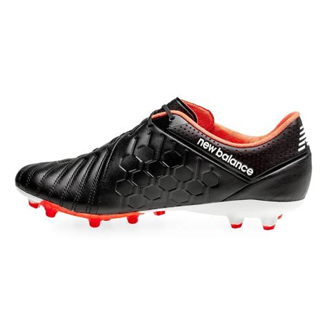 mens black football boots new balance visaro pro leather fg mens football boots