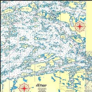 lake of the woods canada map lake of the woods map for houseboaters and fishermen