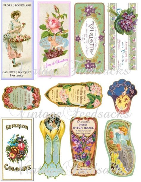 1000 Images About Pretty Vintage Perfume Bottles And Perfume Label Template