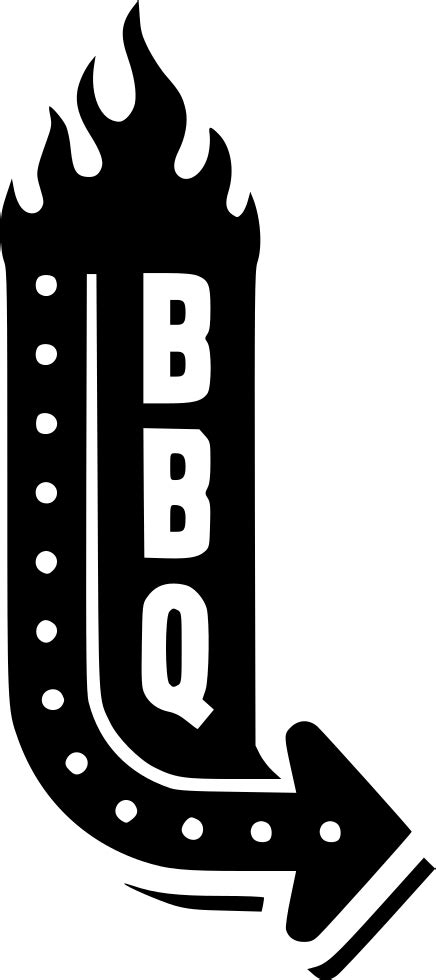 bbq sign svg png icon