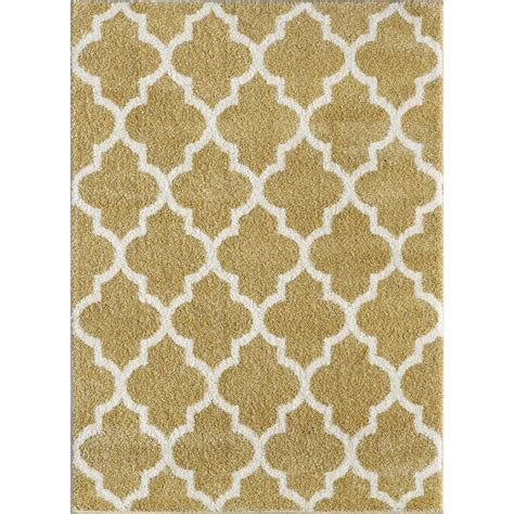 Modern Shag Rugs Tayse Rugs Modern Shag Yellow 7 Ft 10 In X 9 Ft 10 In Contemporary Area Rug Mdr1003 Yellow