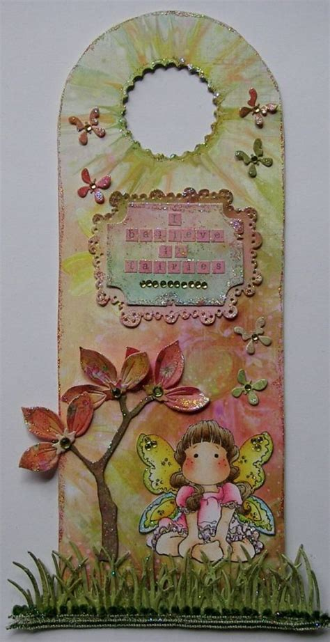 Handmade Wall Hangers - ooak one of a handmade i believe in fairies door wall