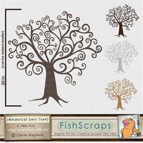 digital tree clipart diy family tree clip art whimsical