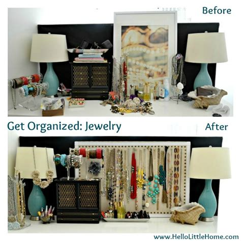 before and after home decor i m getting organized starting with jewelry