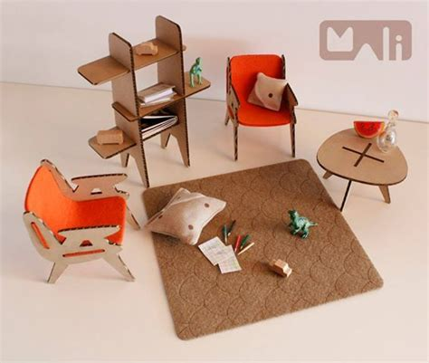 Where To Buy Dollhouse Furniture by Modern Cardboard Furniture For A Doll House Dolls
