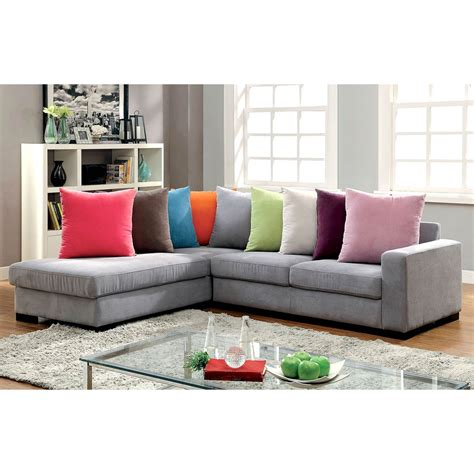 exchange sofa furniture of america renata sofa chaise sectional sofas