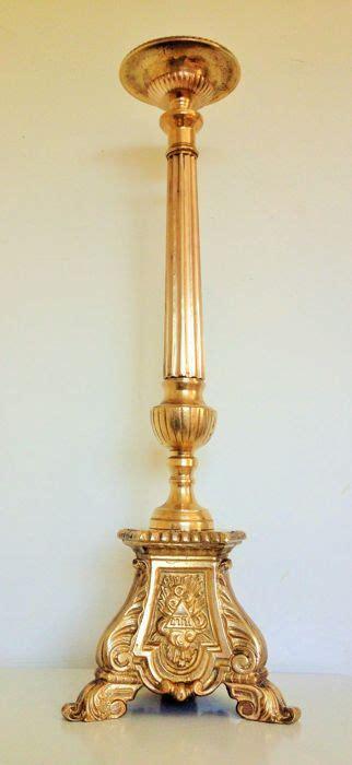 candeliere ebraico candeliere di altare ebraico pesantemente forgiato a mano