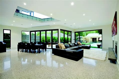 Display Homes With Polished Concrete Floors - polished concrete floors the high gloss finish really