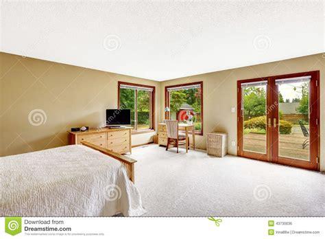 Walkout Basement Plans bedroom with walkout basement deck stock photo image