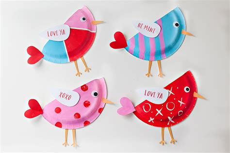 Craft Paper Bird - diy craft paper plate birds craft