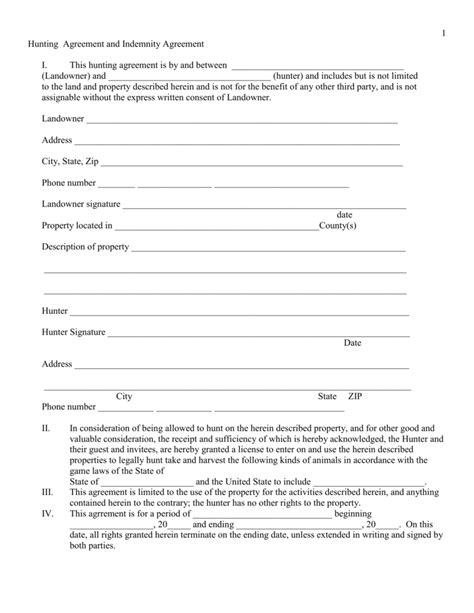 Agreement Indemnity Agreement Contractor Indemnity Agreement Template