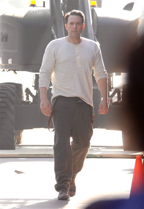 affleck tattoo ben affleck on set of live by with back