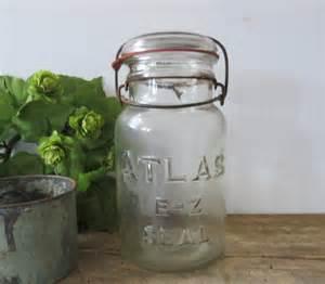 antique atlas e z seal canning jar hazel atlas glass quart jar