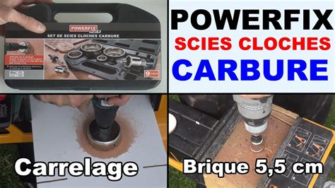 scies cloches carbure powerfix profit percer carrelage b 233 ton alv 233 ol 233 et le cr 233 pi