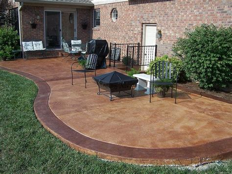 Stained Concrete Patio Pictures - stained concrete patio stained concrete patios stained