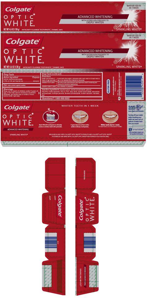 colgate optic white sparkling mint flavor paste