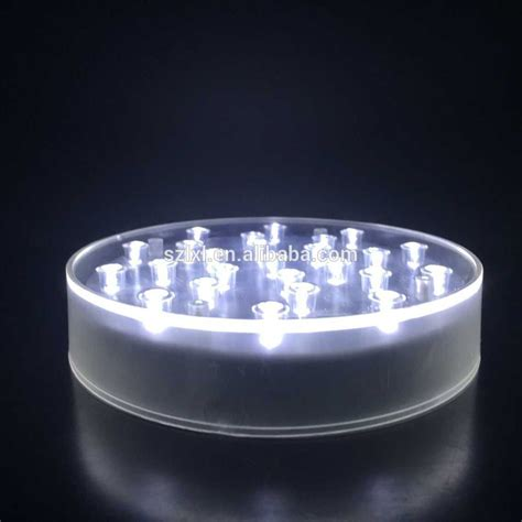 led light base for centerpieces 6 inch white light led centerpiece vase base light led