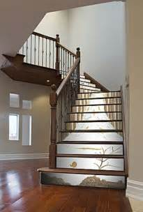 Custom Wall Murals Cheap salvaged and painted stairs nifty homestead
