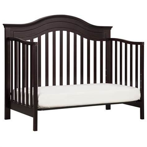 Convertible Cribs With Toddler Rail Davinci Brook 4 In 1 Convertible Crib With Toddler Rail In Java M4401dj