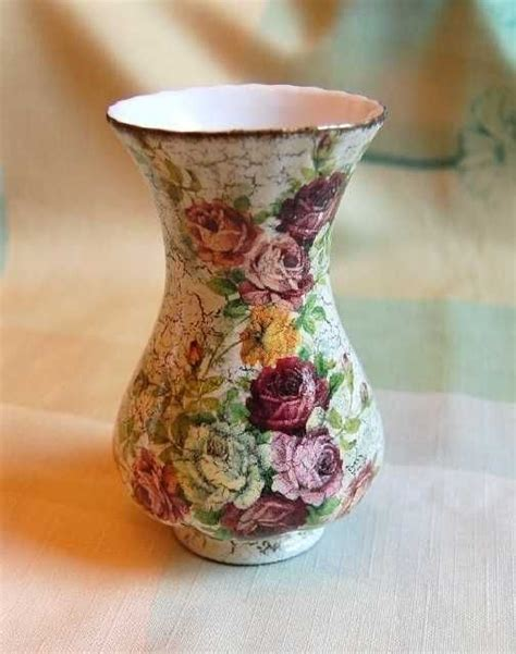 decoupage tutorial glass flower vase 17 best images about decoupage vases on pinterest