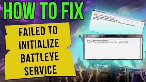 fortnite error fortnite how to fix failed to initialize battleye
