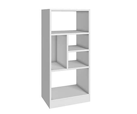 manhattan comfort serra 1 0 white 5 shelf bookcase white bookshelves bookcases for sale