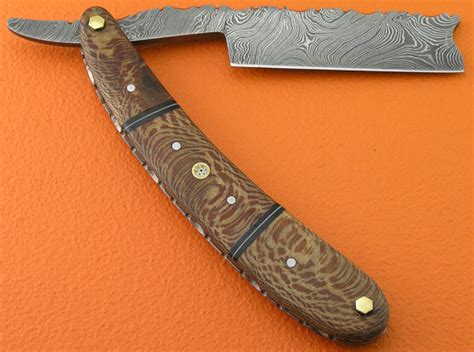 Handmade Razors - damascus folding razor knife custom handmade damascus steel