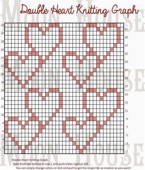 heart knitting pattern chart chart knitting heart doublehearts heart hart dbl heart dbl