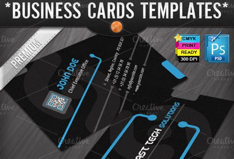 Technology Business Cards Templates Business Card Templates On Creative Market Tech Business Card Template