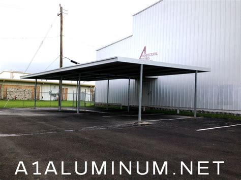 Commercial Carports Commercial Steel Carport With Walkway Cover To Building In