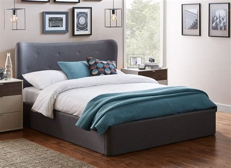 dreams ottoman bed warne grey fabric upholstered ottoman bed frame dreams
