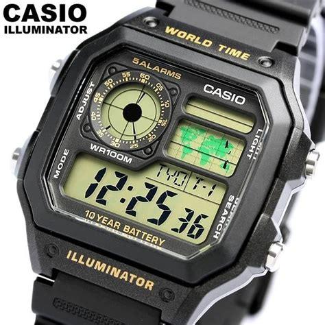 Casio Ae1200wh 1bv Original rel 243 gio casio vintage retro ae1200wh 1bv hora mundial leve