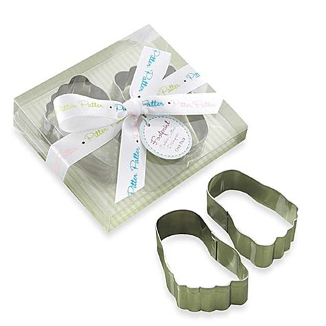 Kate Aspen Baby Shower Favors by Kate Aspen 174 Pitter Patter Baby Footprint Cookie Cutter
