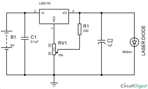 circuit diagram of laser diode circuit and schematics