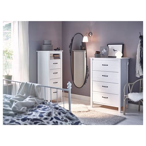 Brusali Chest Of Drawers by Brusali Chest Of 4 Drawers White 80x117 Cm