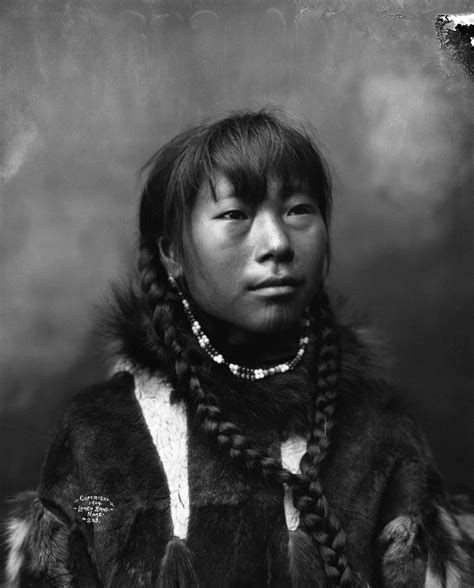 inuit woman with braided hair native americans native