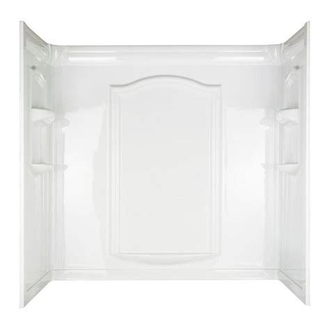 one piece bathtub wall surround aspiration 30 in x 60 in x 58 1 14 in 3 piece easy up