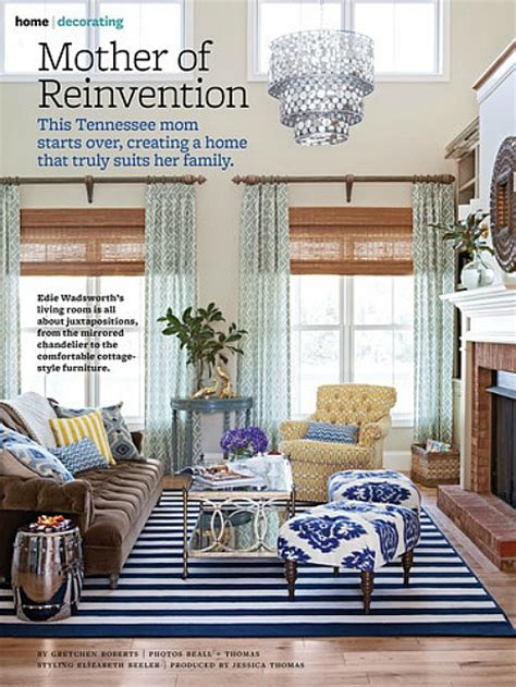 better homes and gardens living rooms edie s house in better homes and gardens hooked on houses