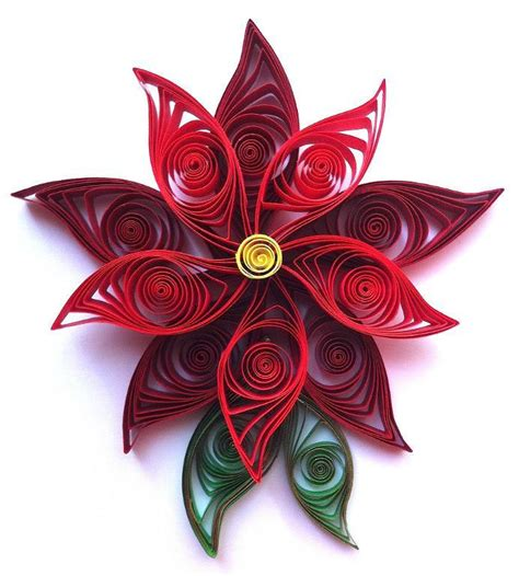 paper poinsettia flowers pattern top free christmas craft patterns