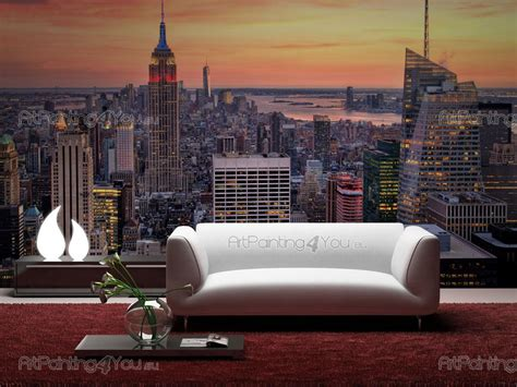 wall mural new york wall murals posters new york panoramic view artpainting4you eu mcc1147en
